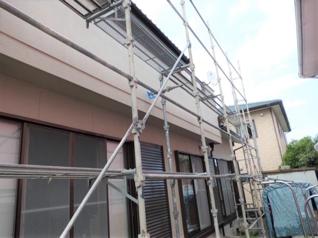 住宅外壁塗装 足場